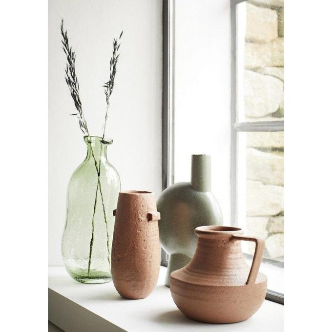 Vase grès ovale