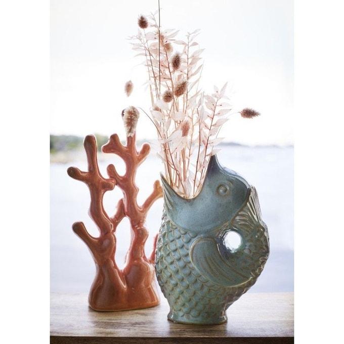 Vase poisson grès