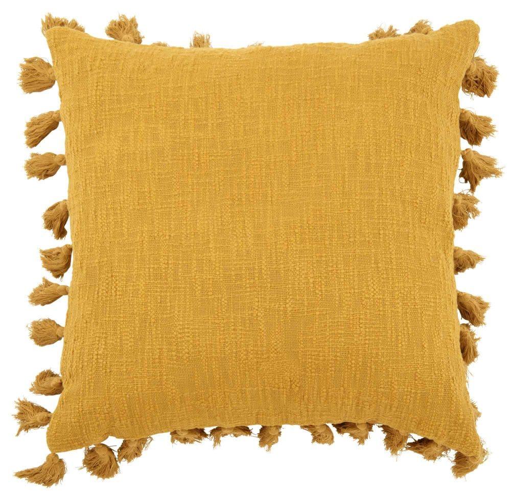 Coussin en coton jaune