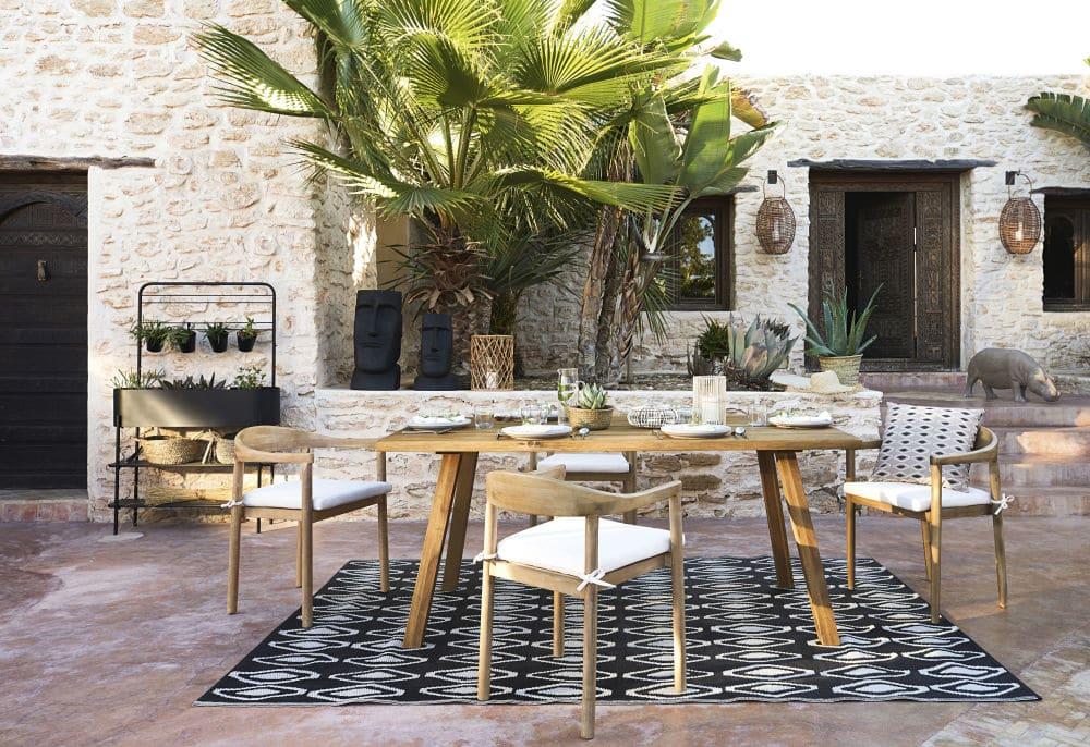 Table de jardin en acacia massif