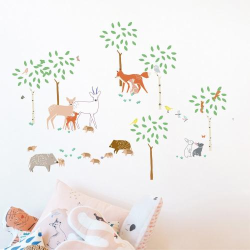 Stickers ballade en forêt
