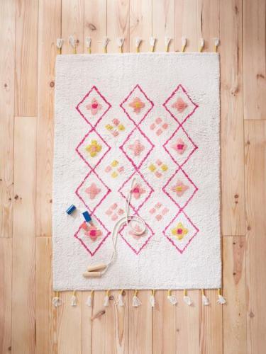 Tapis coton coloré