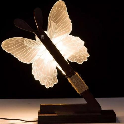 Lampe de chevet papillon