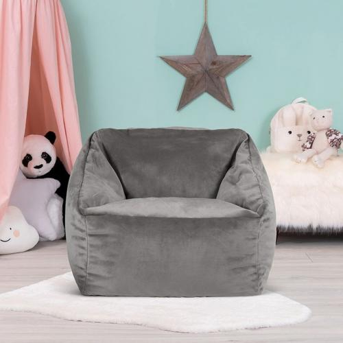 Pouf fauteuil en velours