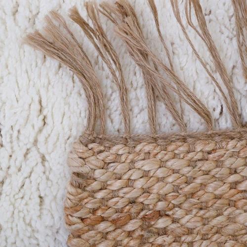 Tapis enfant jute et laine