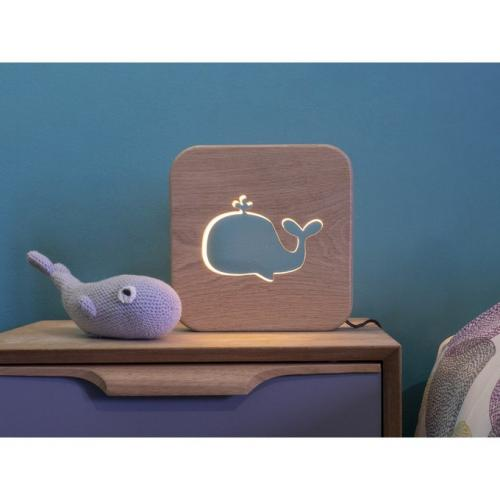 Veilleuse en bois baleine